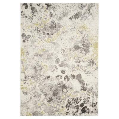 Ivory/Gray Splatter Loomed Area Rug 6'7 X9'1  - Safavieh