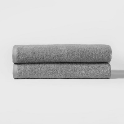 "27""x52"" 2pk Bath Towel Set Gray - Room Essentials™"