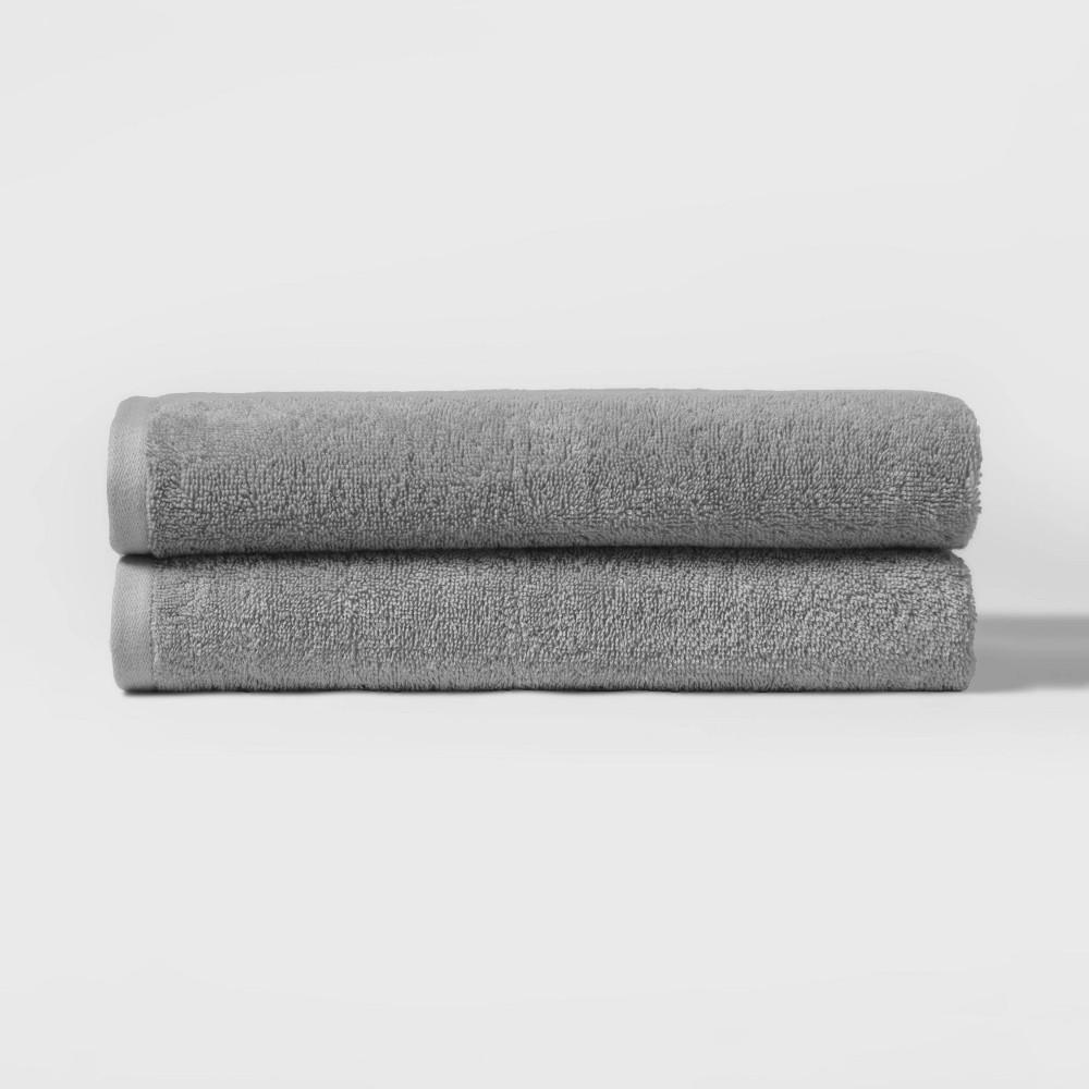 """Image of """"27""""""""x52"""""""" 2pk Bath Towel Set Gray - Room Essentials"""""""