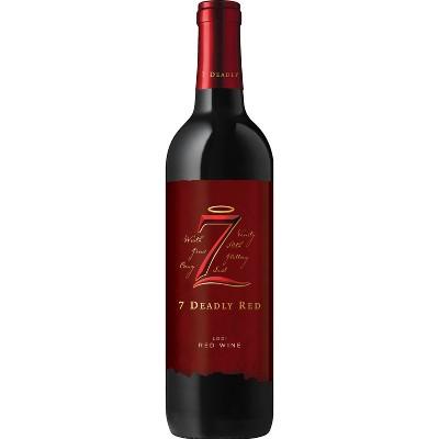 7 Deadly Red Blend Wine - 750ml Bottle