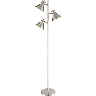 360 Lighting Modern Floor Lamp 3-Light Tree Brushed Steel Adjustable Heads for Living Room Reading Bedroom Office