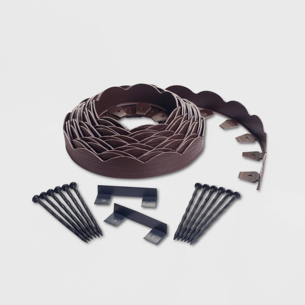 40' No-Dig Garden Edging Kit Brown - EasyFlex