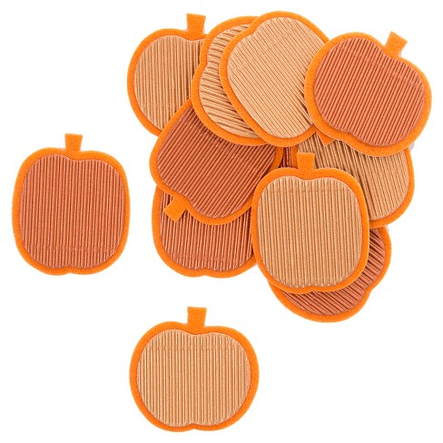 Harvest Felt and Corrugate Pumpkin Stickers 12ct - Spritz™ - image 1 of 2