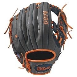 "Wilson A450 11.5"" Baseball Glove - Gray/Blue/Orange"