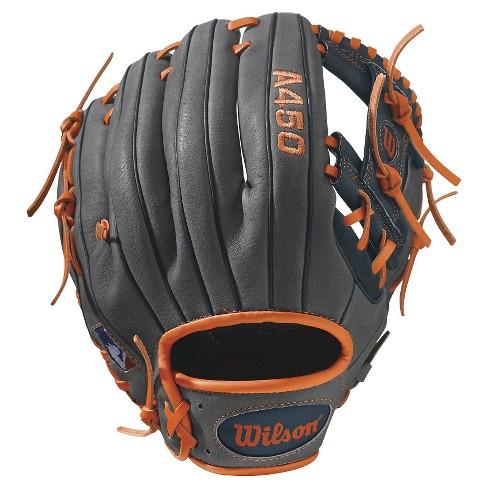 "Wilson A450 11.5"" Baseball Glove - Gray/Blue/Orange - image 1 of 2"