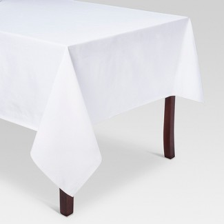 """120""""x60"""" Solid Tablecloth White - Threshold™"""