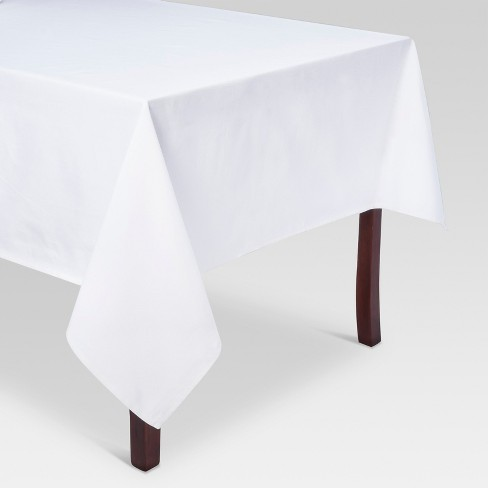 "120""x60"" Solid Tablecloth White - Threshold™ - image 1 of 1"