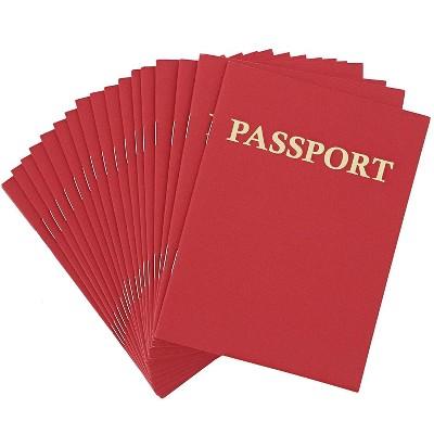 Kids Blank Passport Journal Notebooks (24 Count), Red