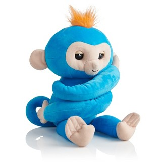 Fingerlings HUGS - Boris - Friendly Interactive Plush Monkey - Blue