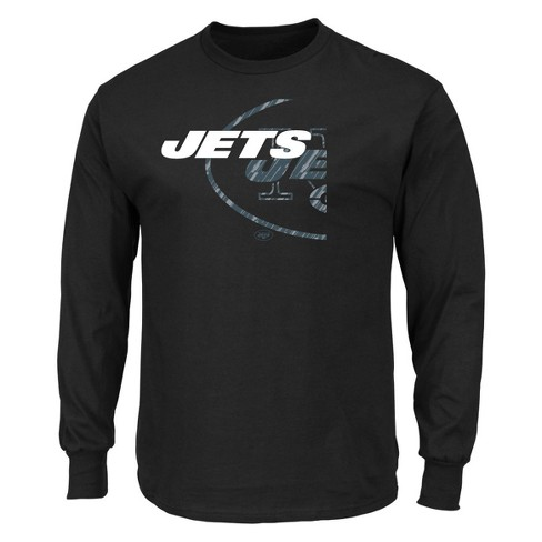 detailed look d738a 6cd26 New York Jets Men's Point of Attack Black Long Sleeve T-Shirt S