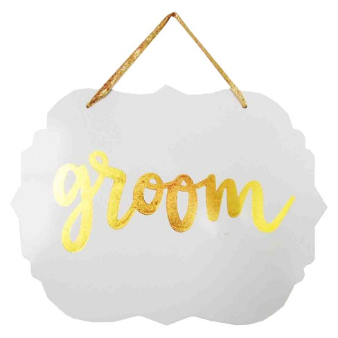 Wood Sign Groom - Spritz™ - image 1 of 1