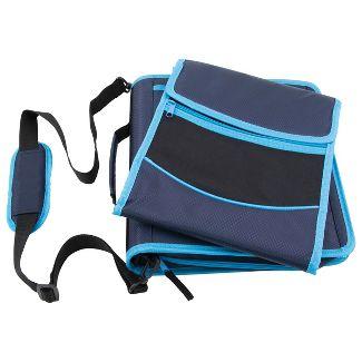 "Pock-It Plus Ultimate Organizer 4"" Zipper Binder Blue"