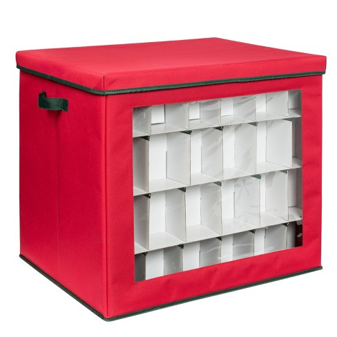 Honey-Can-Do Holiday Over The Door Organizer Red - image 1 of 4