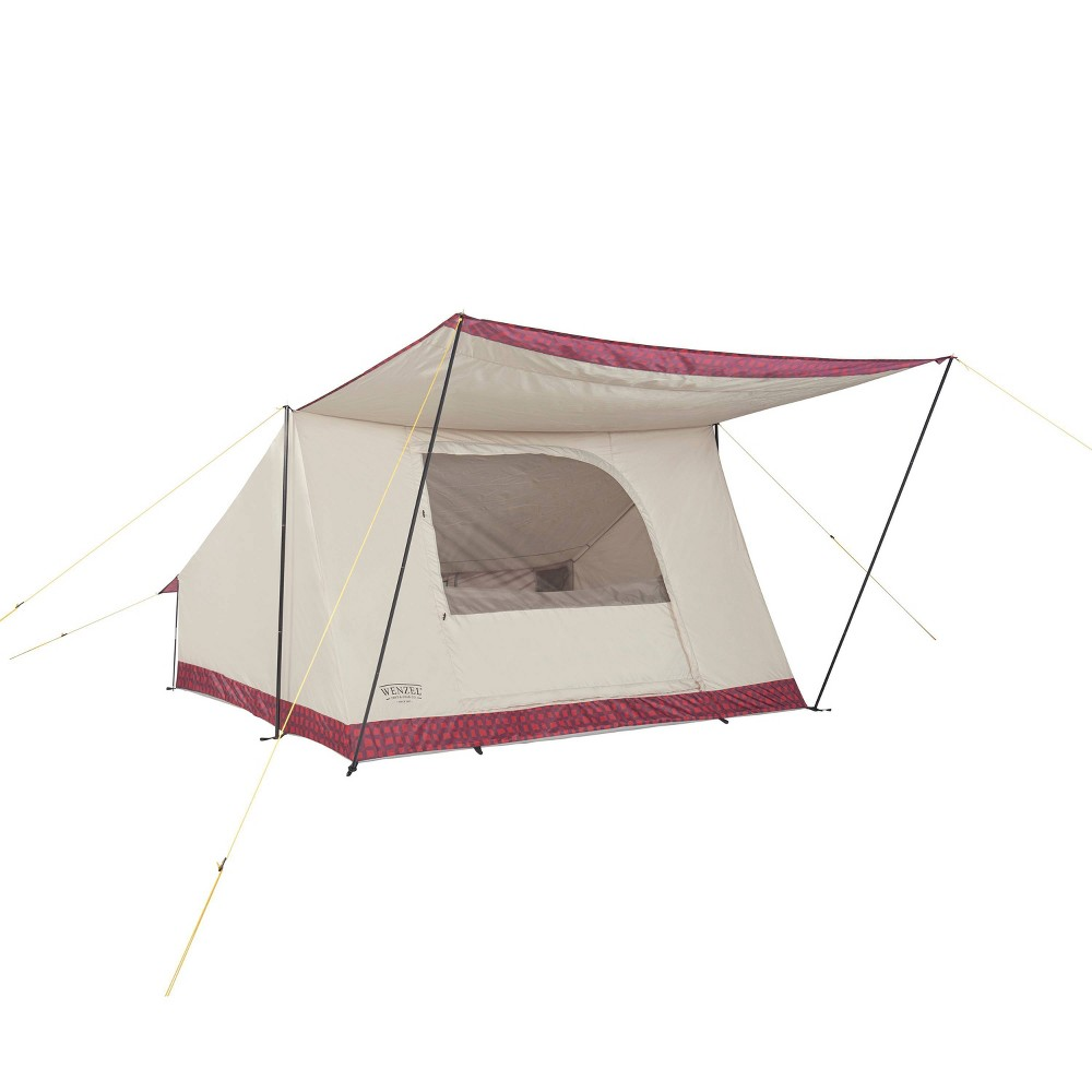 Image of Wenzel Ballyhoo 4 Person Buffalo Plaid Tent - Red
