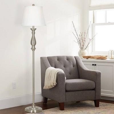 "60.25"" Floor Lamp Silver  - Cresswell Lighting"