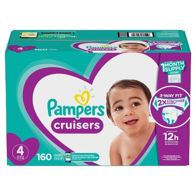 Pampers Cruisers Disposable Diapers One Month Supply - Size 4 (160ct)