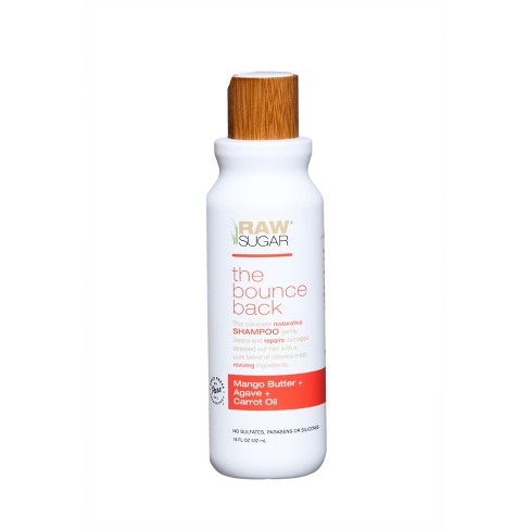 Raw Sugar The Bounce Back Mango Butter + Agave + Carrot Oil Shampoo - 18 fl oz - image 1 of 2