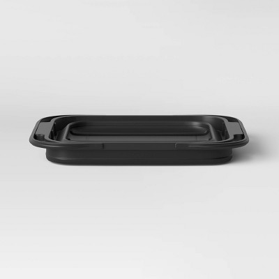 Collapsible Grill Caddy Black - Room Essentials™