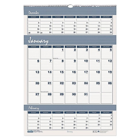 House of Doolittle™ Recycled Bar Harbor Three-Months-per-Page Wall Calendar 12 x 17 2017-2019 - image 1 of 1