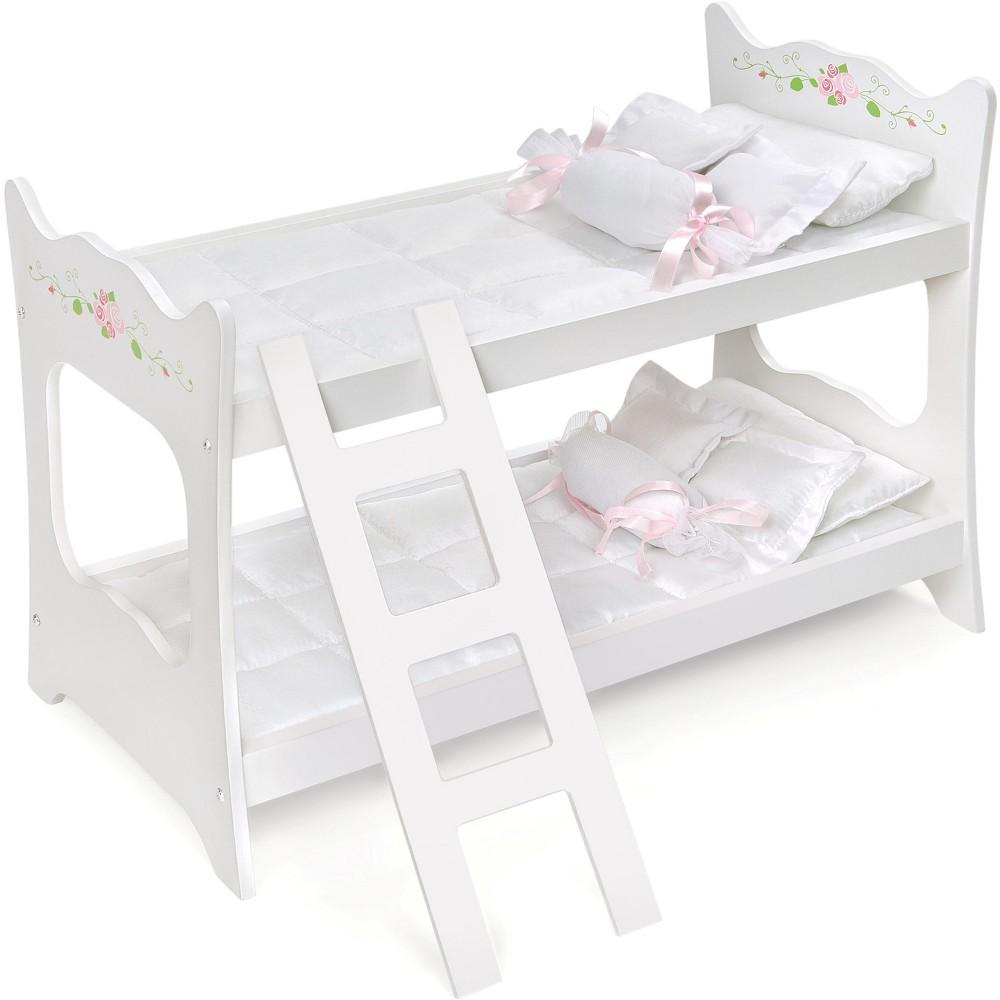 Badger Basket White Rose 18 Doll Bunk Bed