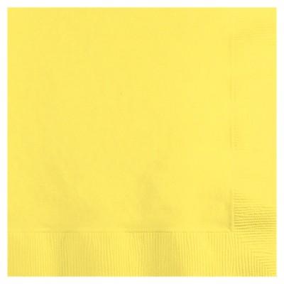 50ct Mimosa Yellow Disposable Napkins