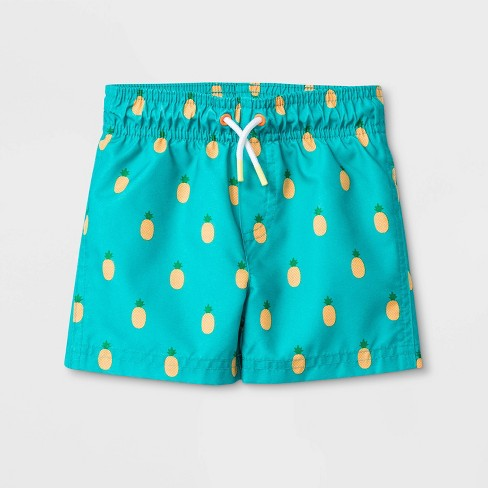 f4a8322856 Baby Boys' Pineapple Print Swim Trunks - Cat & Jack™ Aqua : Target