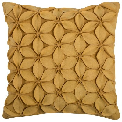 "18""x18"" Botanical Petals Solid Square Throw Pillow Cover - Rizzy Home"