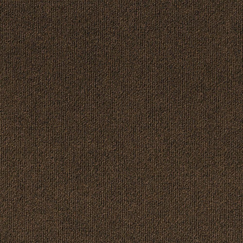 10pk Rib Extreme Carpet Tiles Mocha