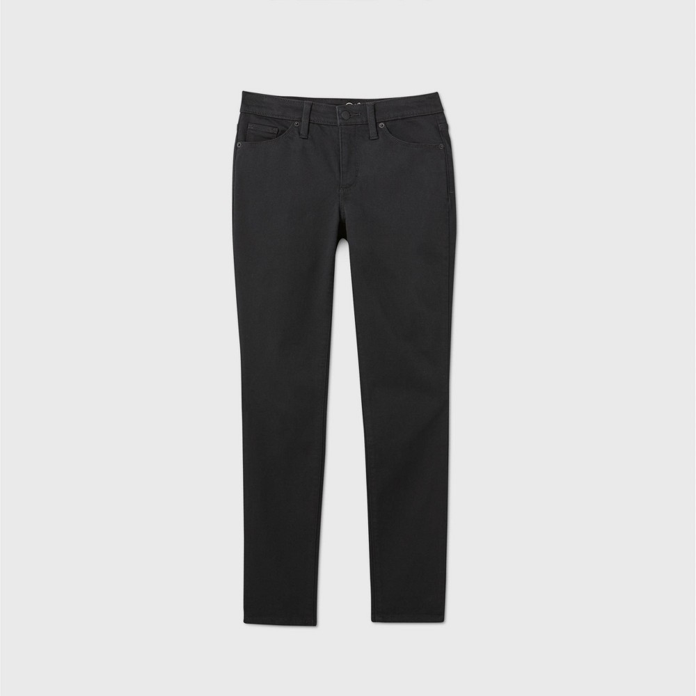 Women 39 S Mid Rise Skinny Ankle Jeans Universal Thread 8482 Black 10