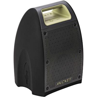KICKER 43BF400G Bullfrog Portable Waterproof and Dustproof Outdoor Bluetooth Speaker with Powerful 20 Watt Amp & 360 Sound