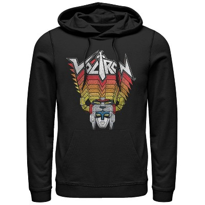 Men's Voltron: Defender of the Universe Robot Stripes Pull Over Hoodie