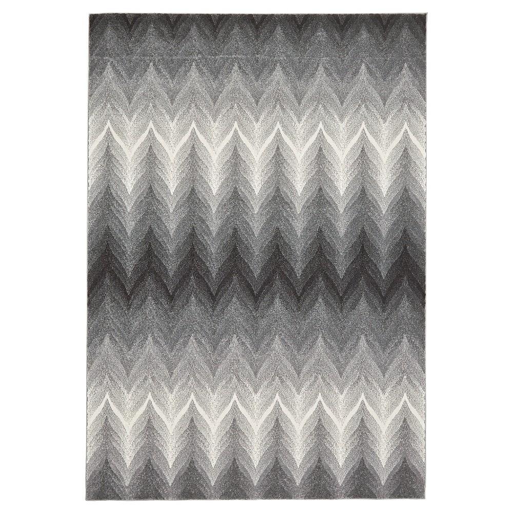 5'X8' Geometric Woven Area Rugs Ash - Room Envy, Gray