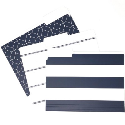 9ct File Folders Navy Assorted Patterns - Kahootie Co