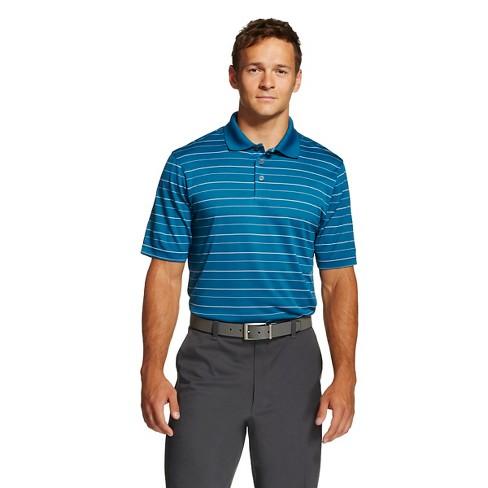 5f4729d39 C9 Champion® Men s Striped Polo Shirt - Petro Teal S   Target