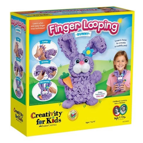 Creativity for Kids Finger Looping Bunny Craft Kit - image 1 of 4