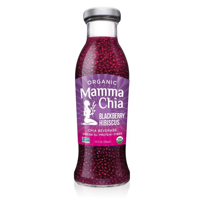 Mamma Chia Organic Vegan Blackberry Hibiscus Chia Beverage - 10 fl oz - image 1 of 3