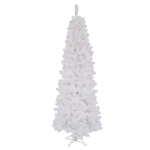 7.5ft Pre-Lit LED Artificial Christmas Tree Salem Pencil - Multicolored Lights - image 1 of 1