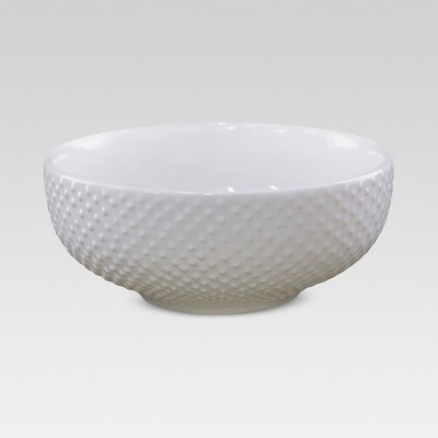 24oz Porcelain Beaded Cereal Bowl White - Threshold™