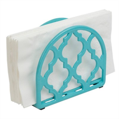 Steel Lattice Napkin Holder Blue - Home Basics