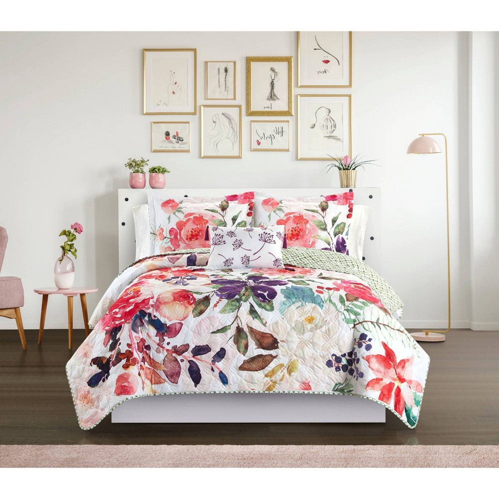 Twin Xl 6pc Domaine Bed In A Bag Quilt Set Multi Chic Home Design