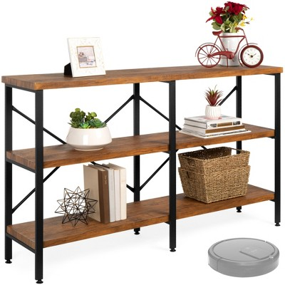 Best Choice Products 55in Rustic 3-Tier Console Table for Living Room, Entry w/ Non-Scratch Feet