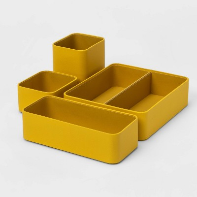 4pc Modular Desktop Organizer Set Yellow - Project 62™