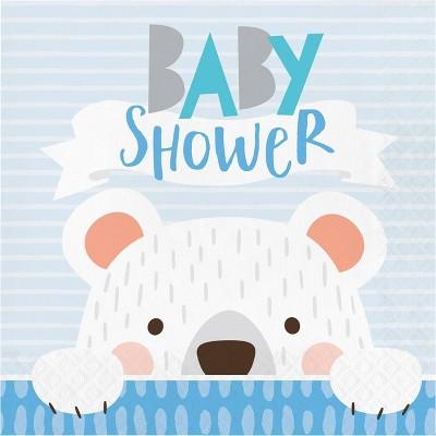 48ct Bear Print Baby Shower Napkins
