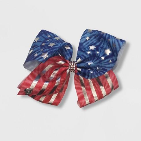 Girls' JoJo Siwa Printed Flag Bow Hair Clip - image 1 of 1