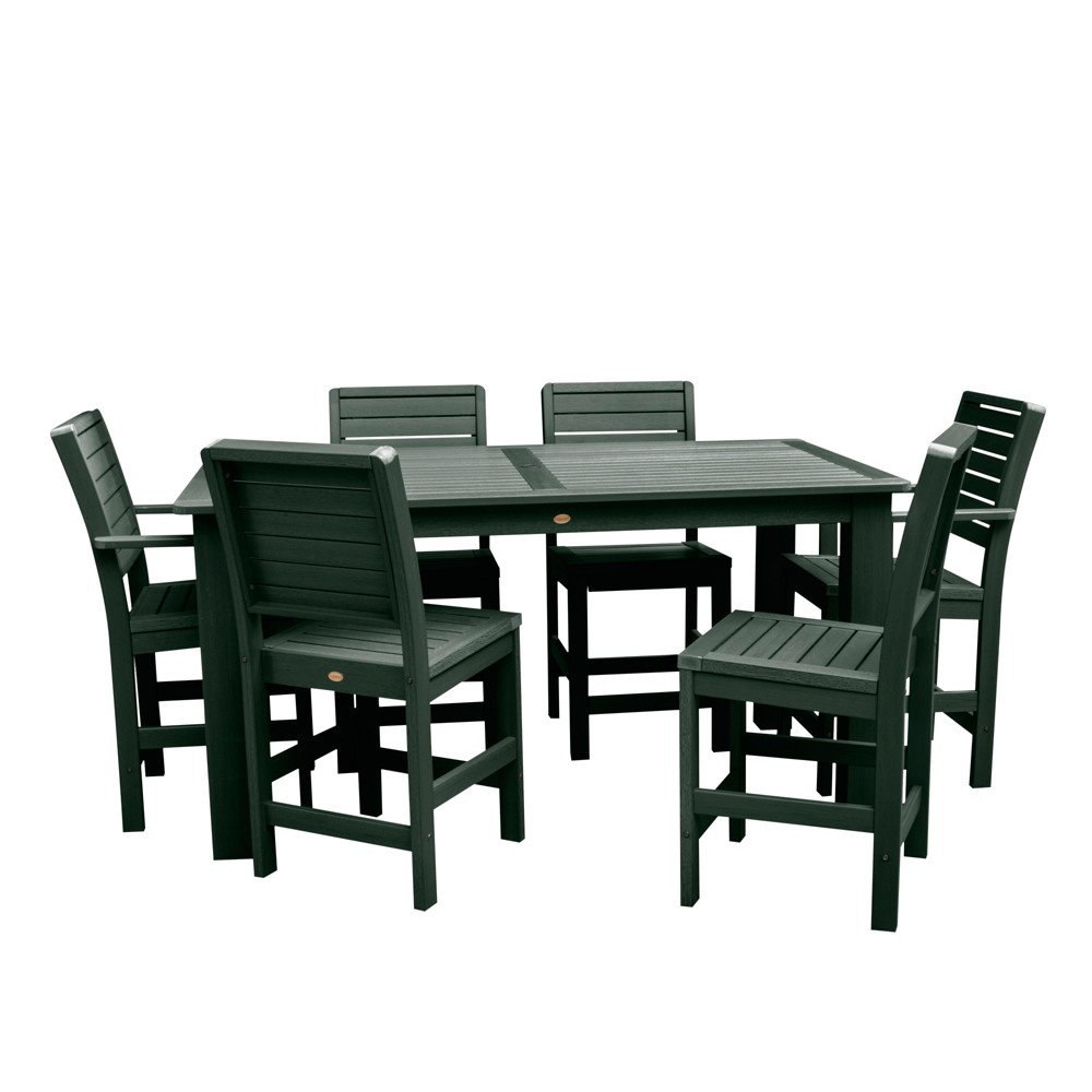 Weatherly 7pc Rectangular Counter Height Dining Set 72