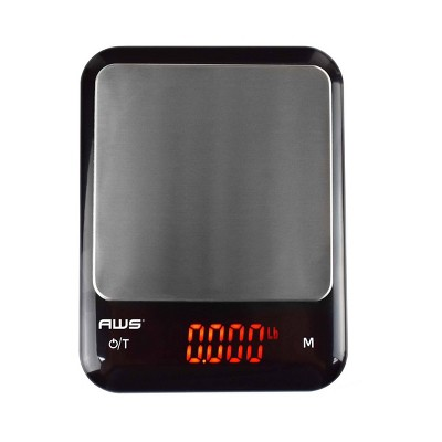 American Weigh Scales Kf-Kg USB Rechargable Kitchen Scale with Cover Bowl