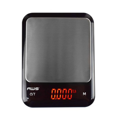 American Weigh Scales Kf Kg Usb Rechargable Kitchen Scale With Cover Bowl Target