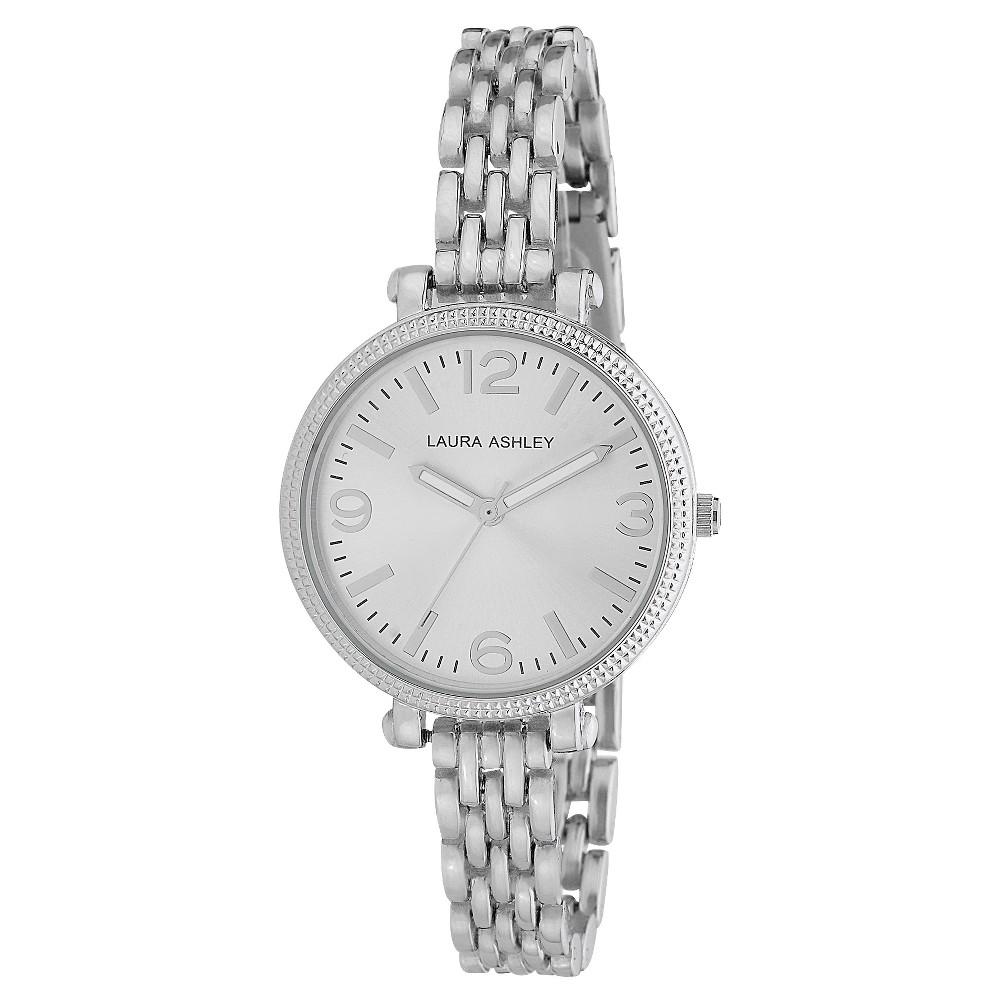 Women's Laura Ashley Link Bracelet Watch - Silver