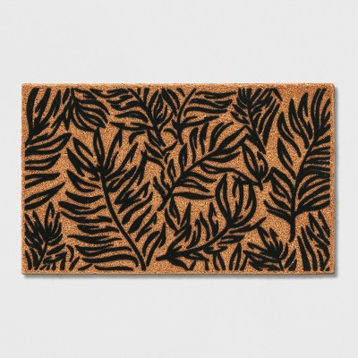 Black Leaf Doormat 1'6 X2'6  - Project 62™