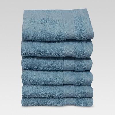 Washcloths 6pc Gentle Aqua - Threshold™